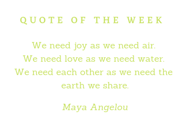 Quote Of The Week green